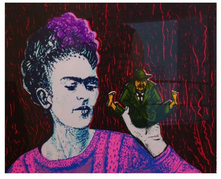 'Frida och Luego', ett konstverk av Eva Zettervall