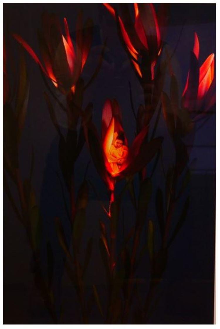 'Lights by night 2', ett konstverk av Sonja Hesslow