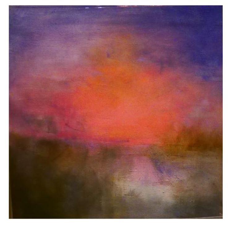 'Solnedgång', ett konstverk av Kerstin Torssell