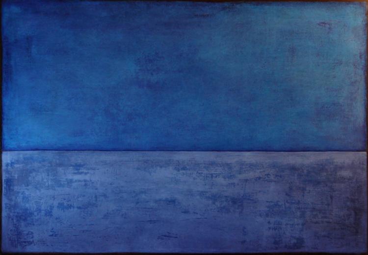 'Det stora blå', 2017, ett konstverk av Anna Löwdin