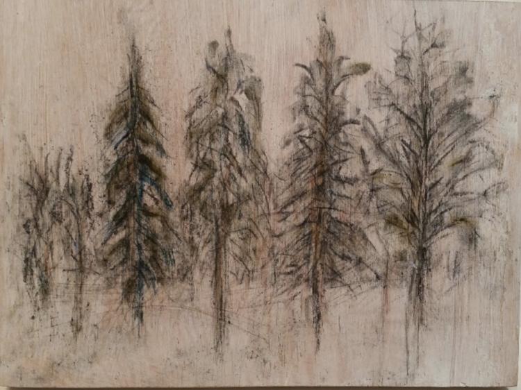 'Tillsammans', 2019, ett konstverk av Birgitta Wennerling