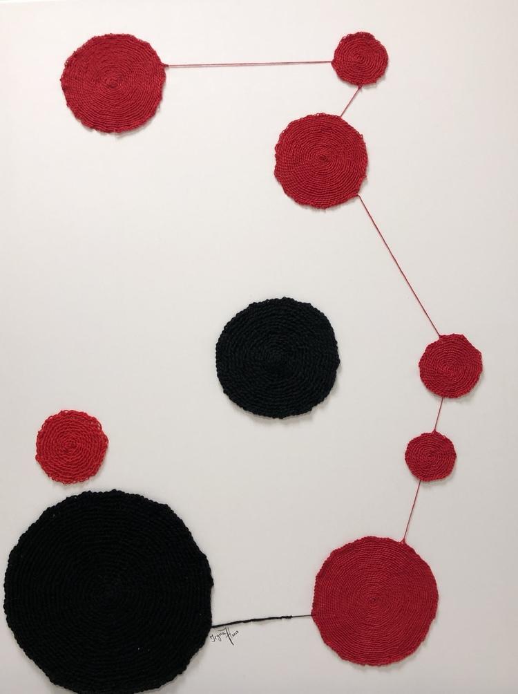 'Kandinski inspirerat', 2019, ett konstverk av Iryna Hauska