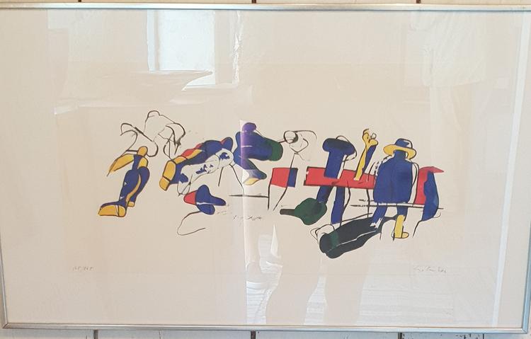 'Figur i rörelse', ett konstverk av Lage Lindell