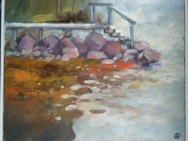 'Stenkistan, Olja', ett konstverk av Gösta Berg