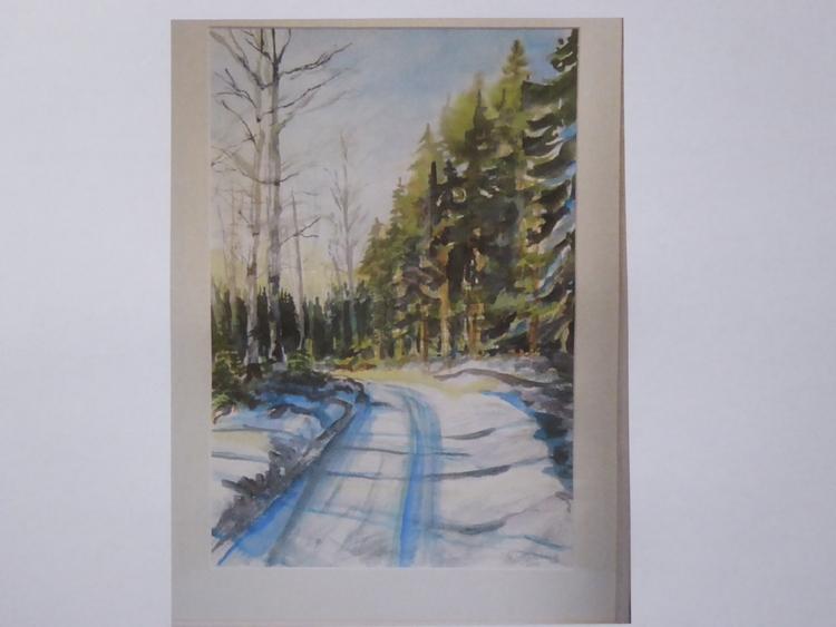 'Akvarell', ett konstverk av Lena Schlaug