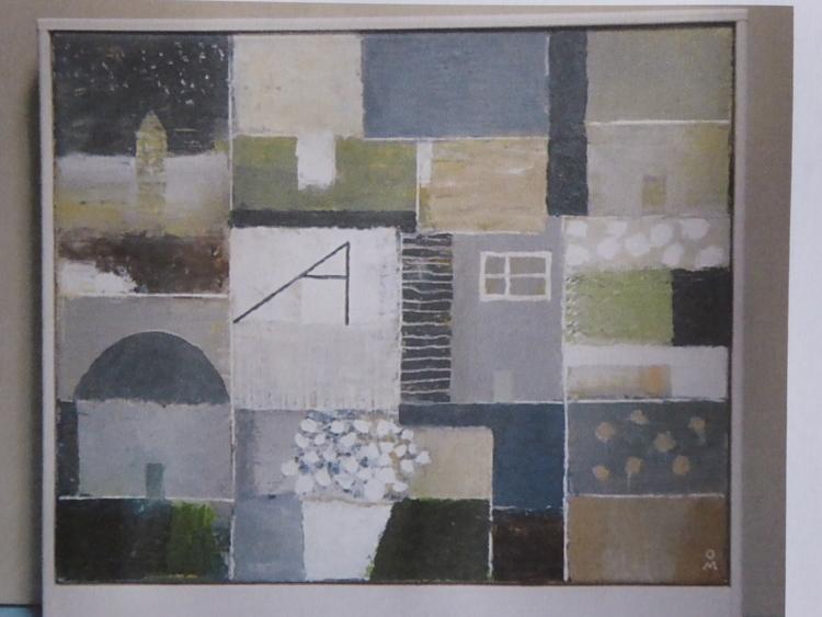 'En grå dag i Italien, Olja', ett konstverk av Olle Medin