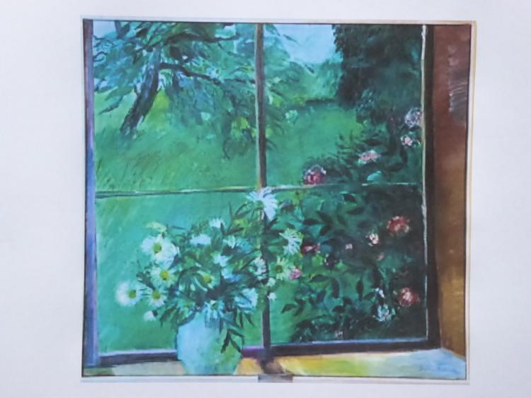 'Sommarfönstret II, Olja', ett konstverk av Barbro Lindh