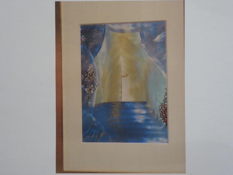 'Hemliga dörren, Akvarell', ett konstverk av Gunnel Ljungstedt