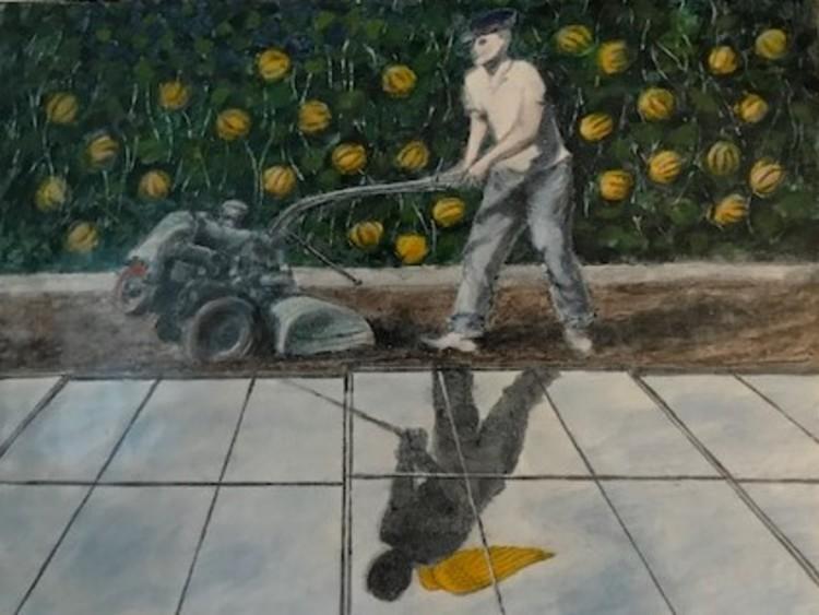 'Emalj 28x22 cm', 2020, ett konstverk av Hadar Tilja
