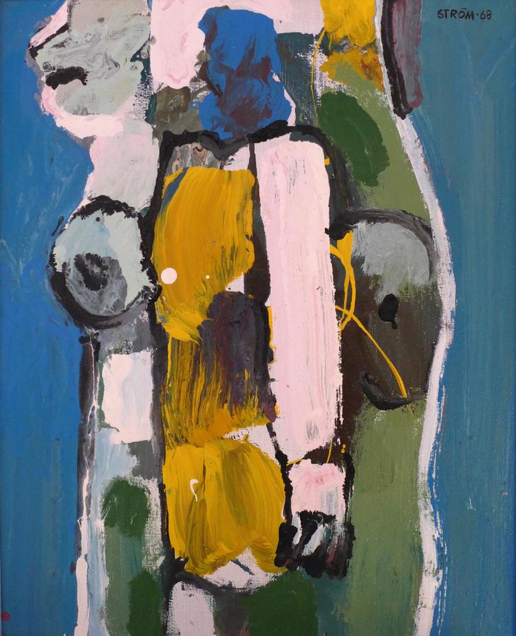 'Blå torso', 2019, ett konstverk av Lars-Erik Ström