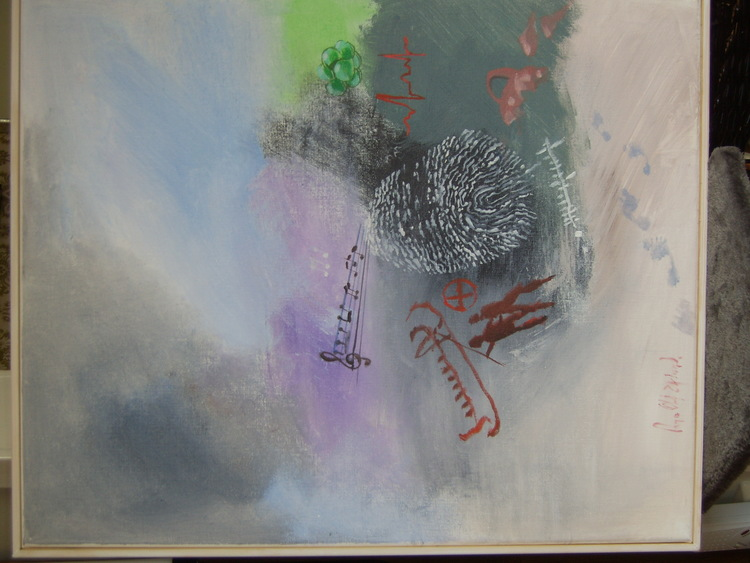 'Spår av liv', 2019, ett konstverk av Per-Olof Eklund