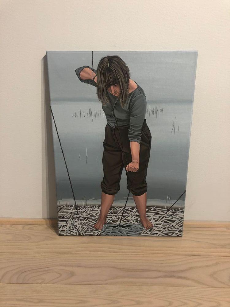 'Att besvära sig', 2020, ett konstverk av Amanda Karlsson