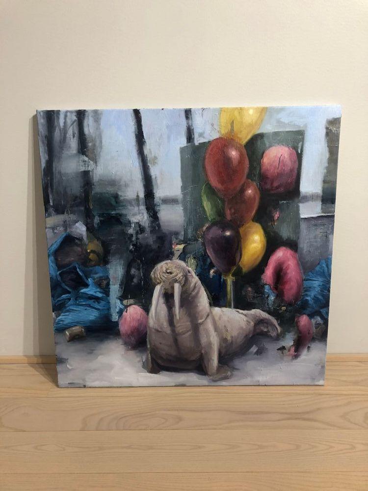 'Walrus', 2020, ett konstverk av Björn Camenius.
