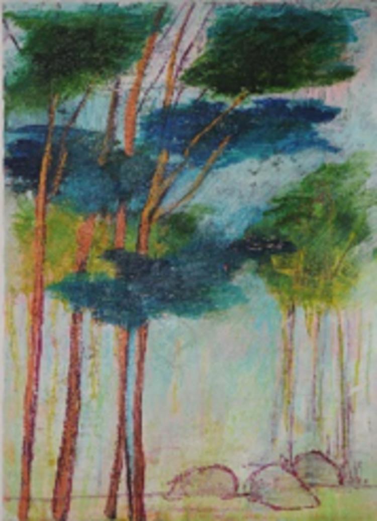 'Tallar', 2020, ett konstverk av Pia Lindström