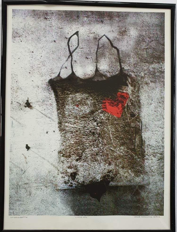 'Linne röd', 2019, ett konstverk av Vaino Ranung