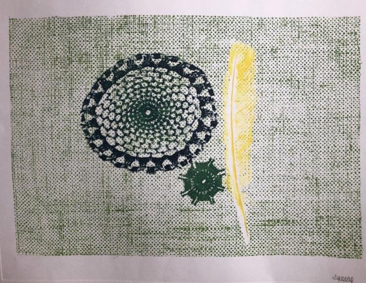 'Grafiskt blad - Vinnare Gillan Lagedal', 2019, ett konstverk av Lars Gustafsson