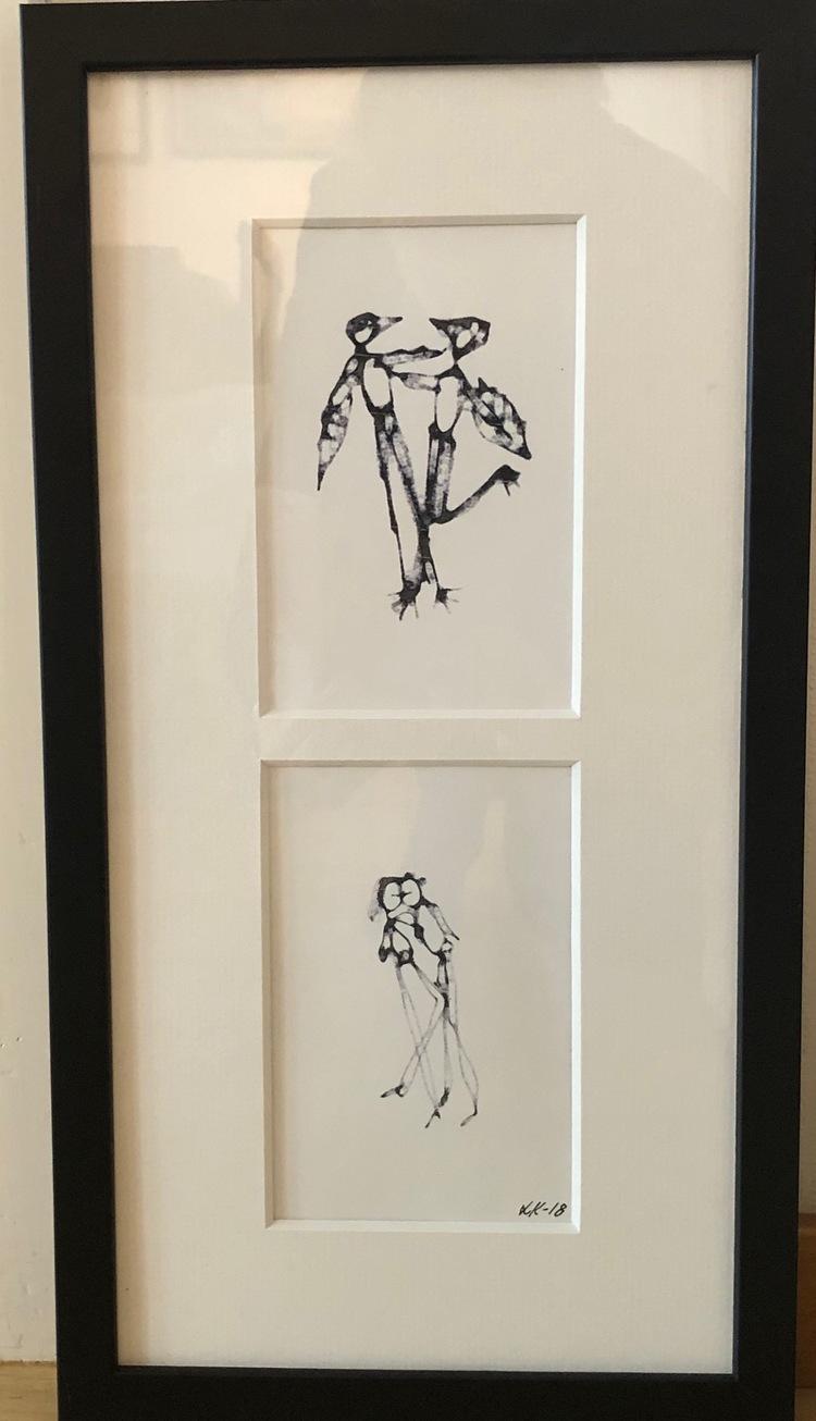 """'Print av teckning """"Du och jag"""" - Vinnare Börje Nenner', 2019, ett konstverk av Laila Koukkari"""