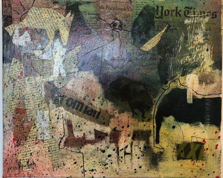 """'Collage """"Augusti"""" - Vinnare Jarl Backman', 2019, ett konstverk av Lligo Matson"""