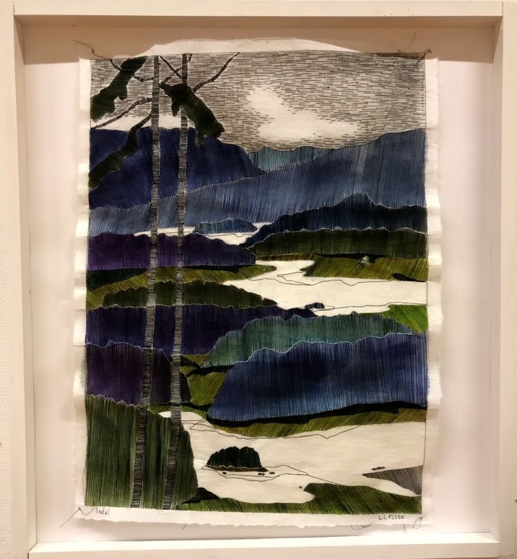 """'Broderi """"Indal"""" - Vinnare Britt-Marie Lindström', 2019, ett konstverk av Linda Lasson"""