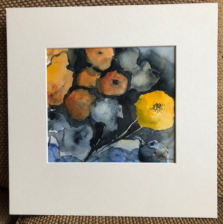 'Akvarell utan titel - Vinnare Deanna Sterner', 2019, ett konstverk av Karin Lundman Rehn