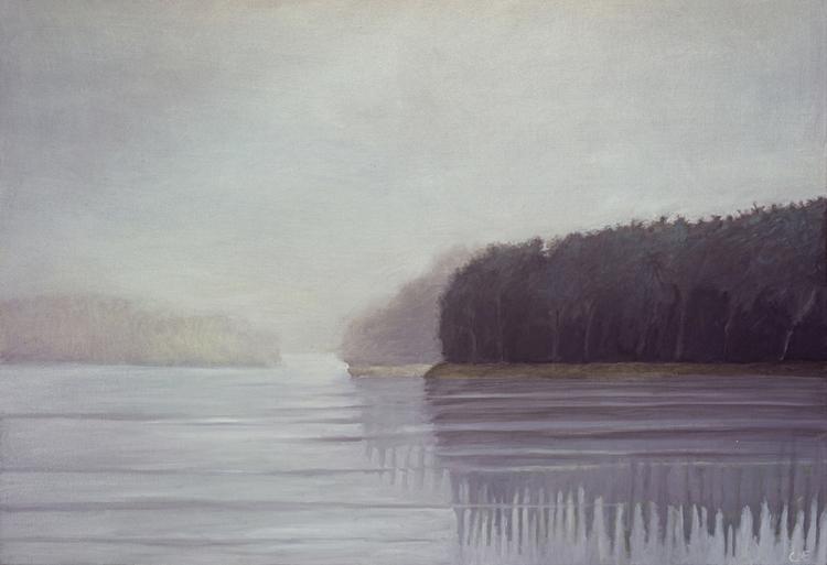 'Frost I olja stor', 2019, ett konstverk av Carina Moberg Eyre