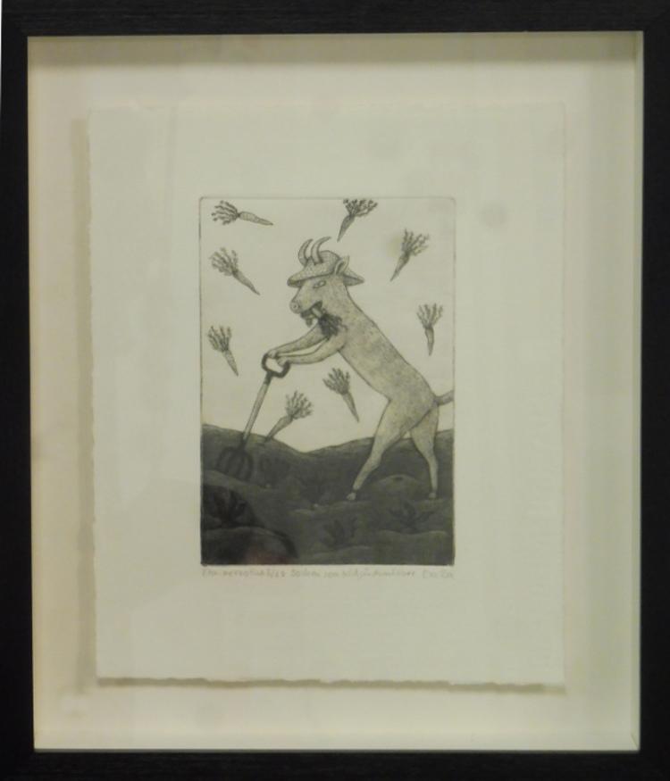 '29. Bocken som trädgårdsmästare', 2020, ett konstverk av Eva Rex