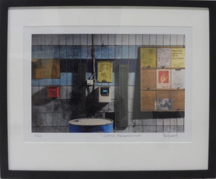 '37. Gjuteriet Hälleforsnäs bruk', 2020, ett konstverk av Ewa Wernlid