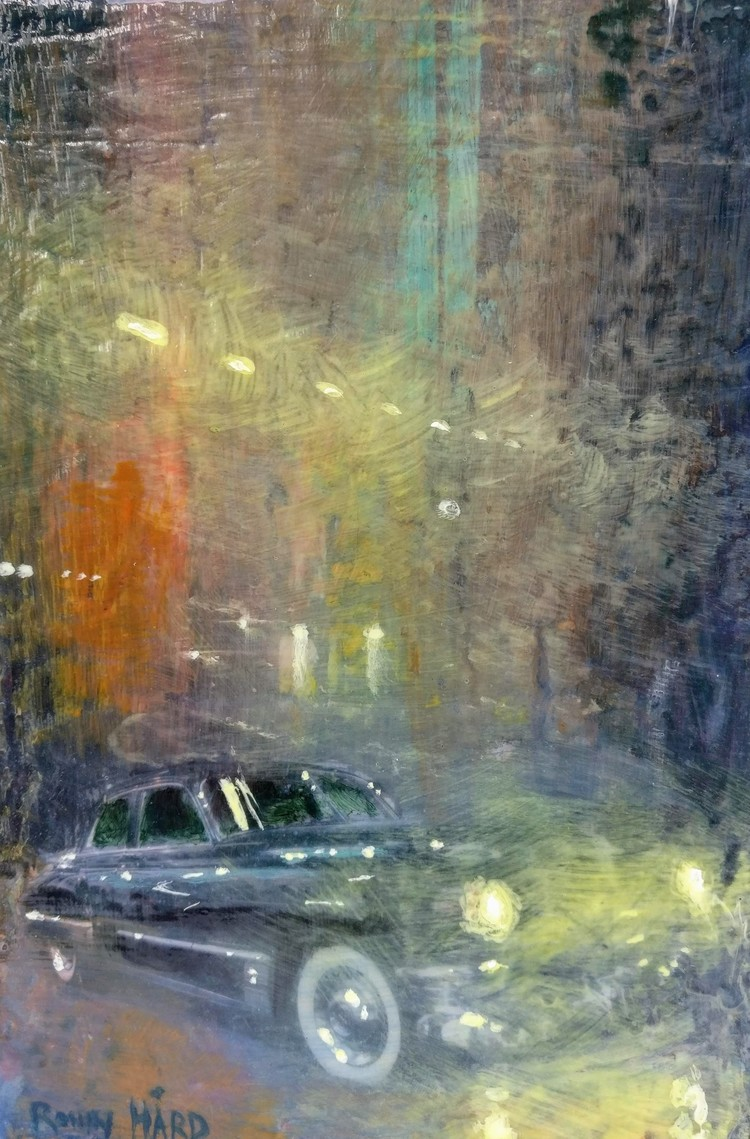 '5. Ljus i natten', 2019, ett konstverk av Ronny Hård
