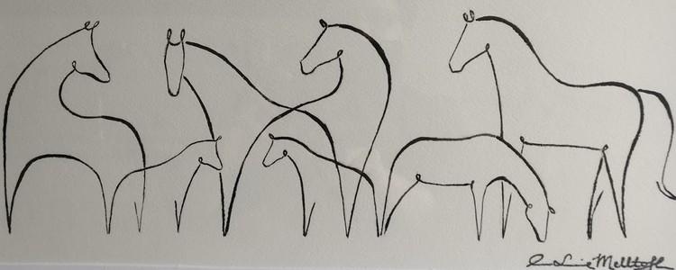 '14. Horses on the line', 2019, ett konstverk av Ann-Louise Melltoft