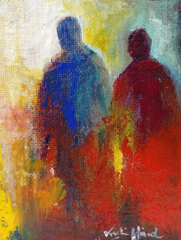 '7. Pilgrimer', 2019, ett konstverk av Katarina Hård