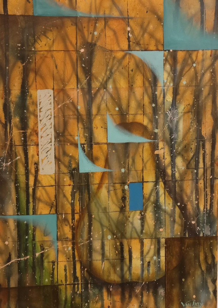 'Päron', 2020, ett konstverk av Van Arty