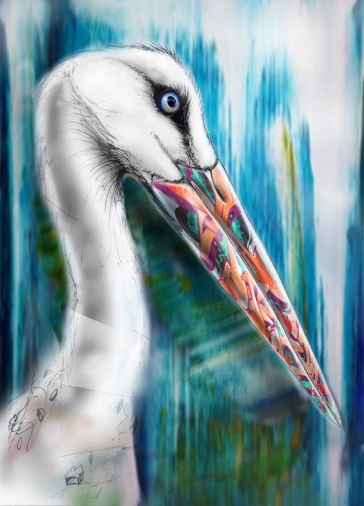 'Stork', 2019, ett konstverk av Adam Algotsson