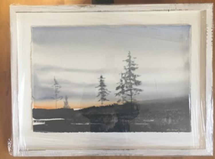 'Akvarell', 2019, ett konstverk av Peter Eugén Nilsson