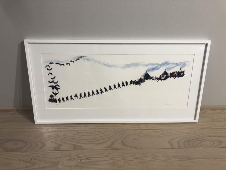 'Kråkorna', 2020, ett konstverk av Britta Markatta-Labba