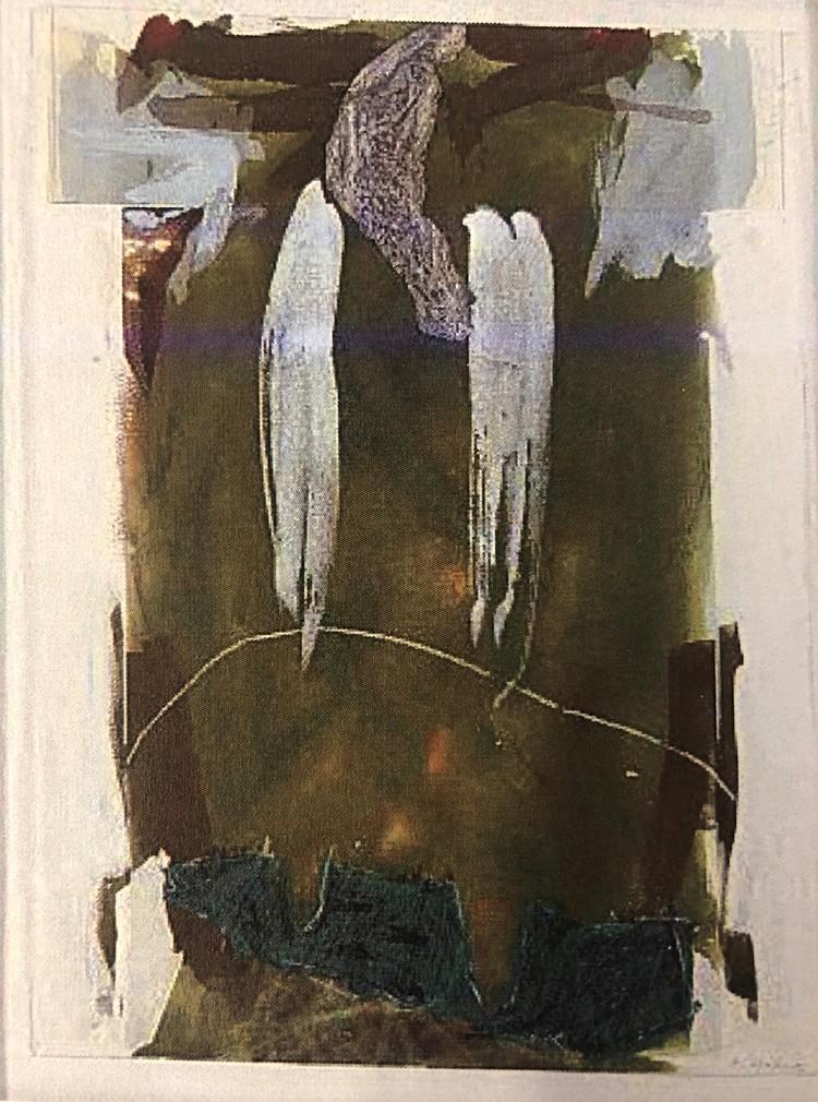 'Peter Hahne, utan titel, collage/blandteknik', ett konstverk av Peter Hahne