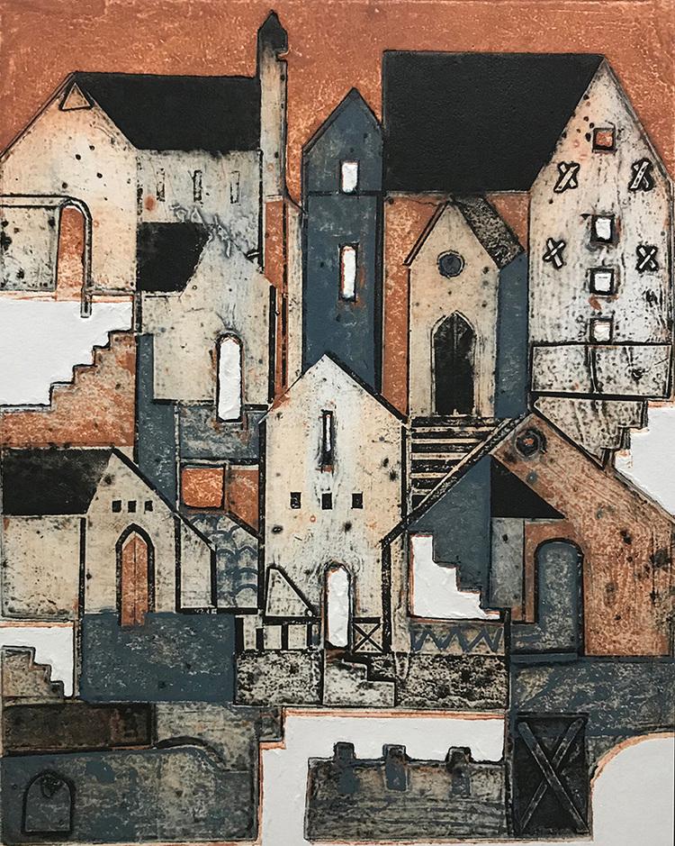 'Staden', 2020, ett konstverk av Aino Myllykangas