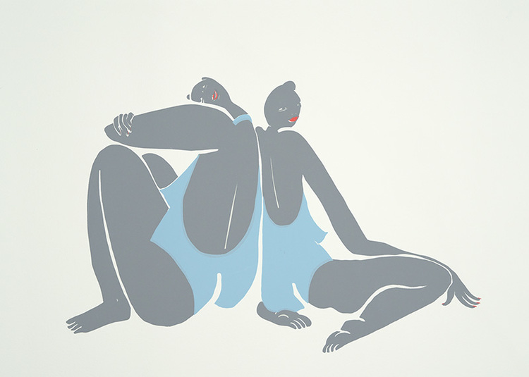 'Vinterbadarna', 2020, ett konstverk av Yasmina Karli Malmsten