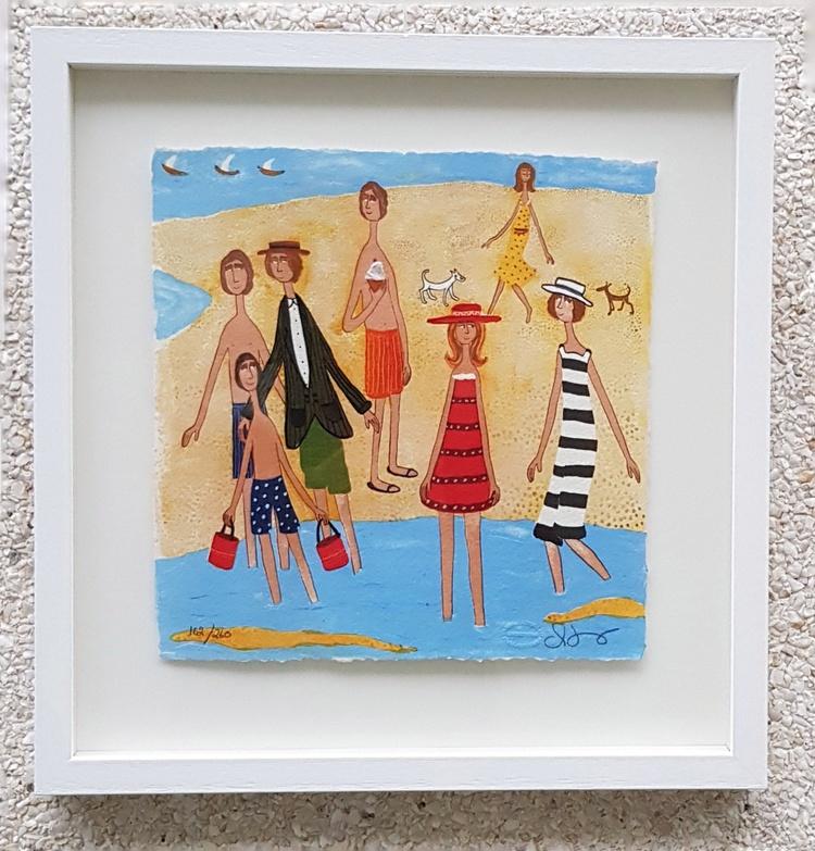 '6 På stranden', 2019, ett konstverk av CarArt